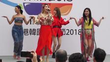 女团MAMAMOO成员性感袭港  劲歌辣舞狂野魅力不可挡