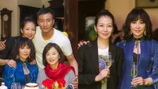 林青霞刘嘉玲出席《哈姆雷特》庆功宴