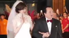 林志玲结婚出酒店现场头纱飞飘!太美丽了吧!