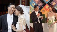 林志玲婚礼给父母念亲笔信 从头哭到感动全场!